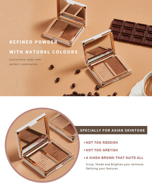 BEYOUTIFUL Dual Matte Contour Palette-#504 Brown Coffee