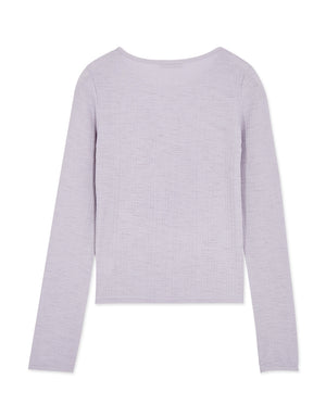 Long Sleeve Thin Plain Top