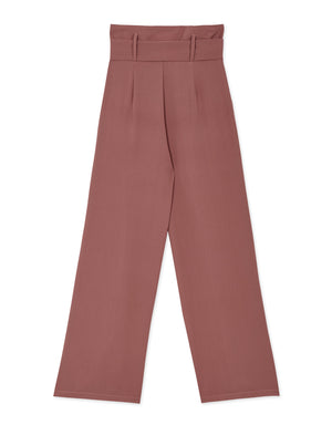 High-rise Paperbag Belted Pants