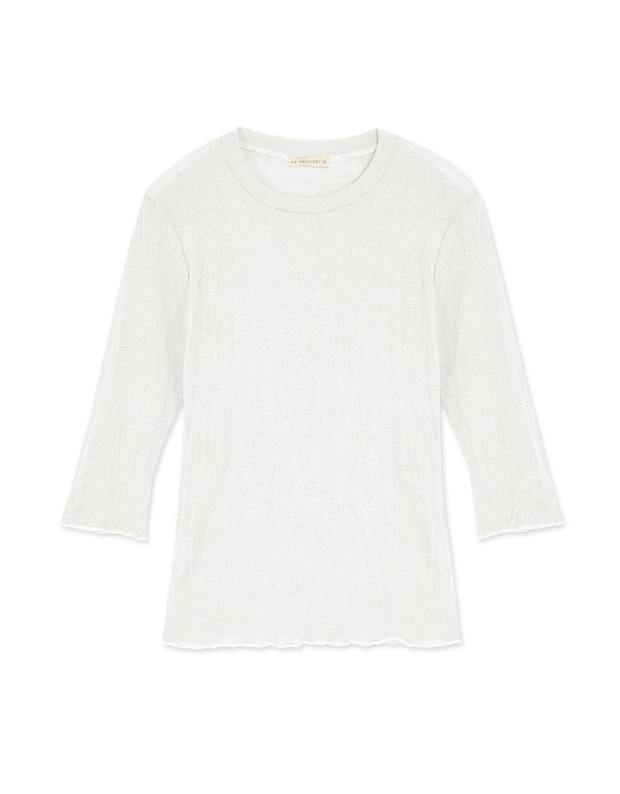 Minimalist Thin Top with Frilled Hem