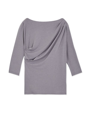 Boat Neck Shirred Thin Top