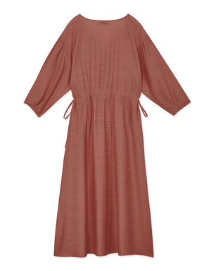Drawstring Cotton Dress