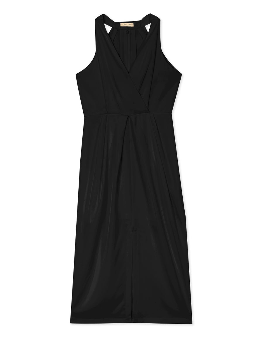 Slit Wrap Chiffon Dress