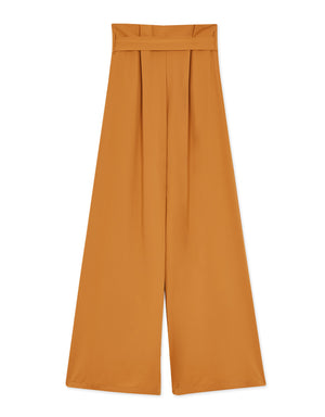 D-metal Belted Wide-leg Pants