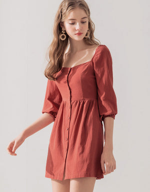 Button Cotton Dress