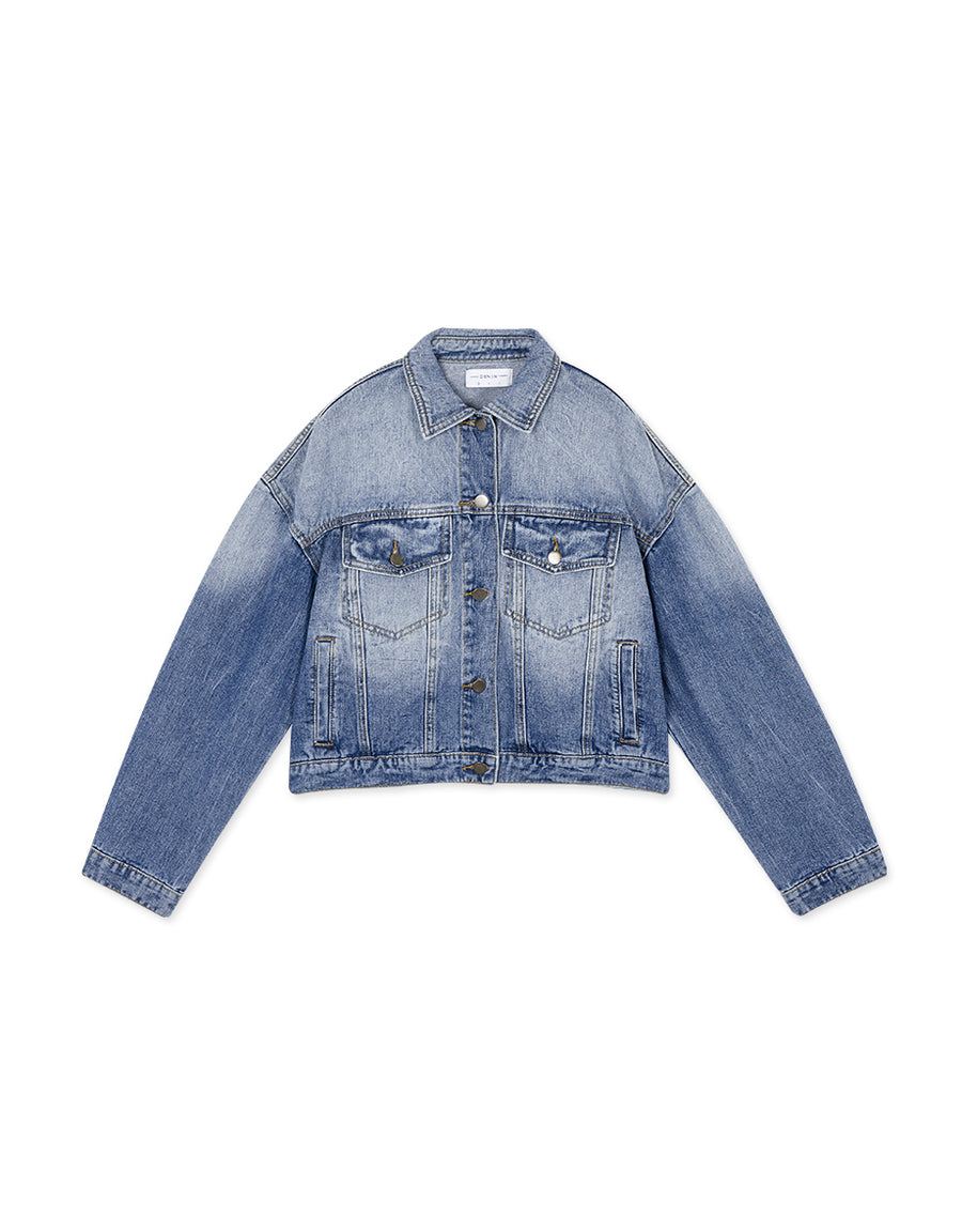 Denim Jacket in Washed Blue