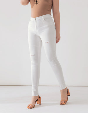 Soft Skinny Ripped Pants
