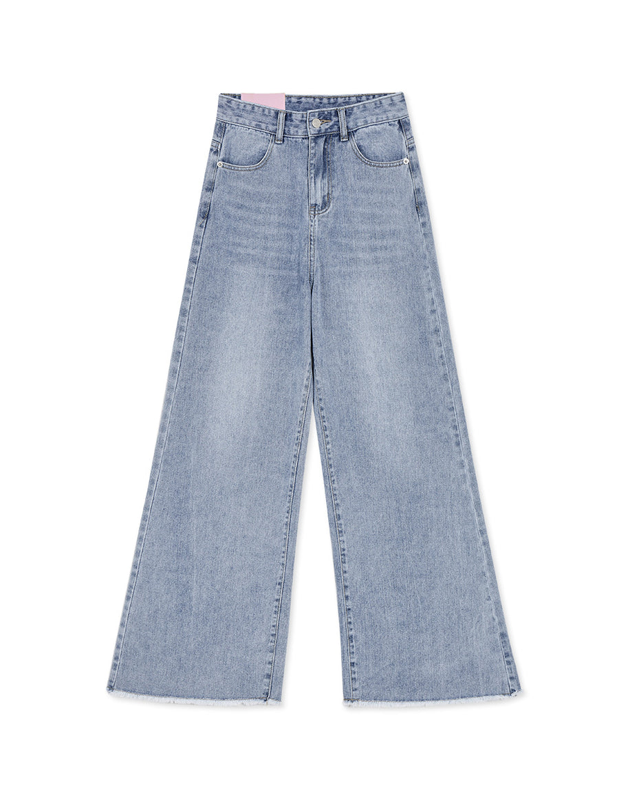 Soft Skinny Denim Wide-leg Jeans