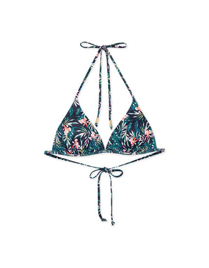 Printed Single Tie Strap Bikini Swimwear Top + Free Body Jewelry
