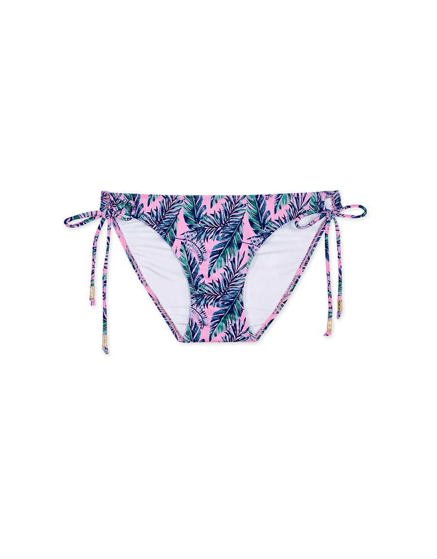 (L, XL) Printed Side Tie Bikini Bottom