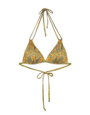 3 Way Printed Double Straps Bikini Swimwear Top