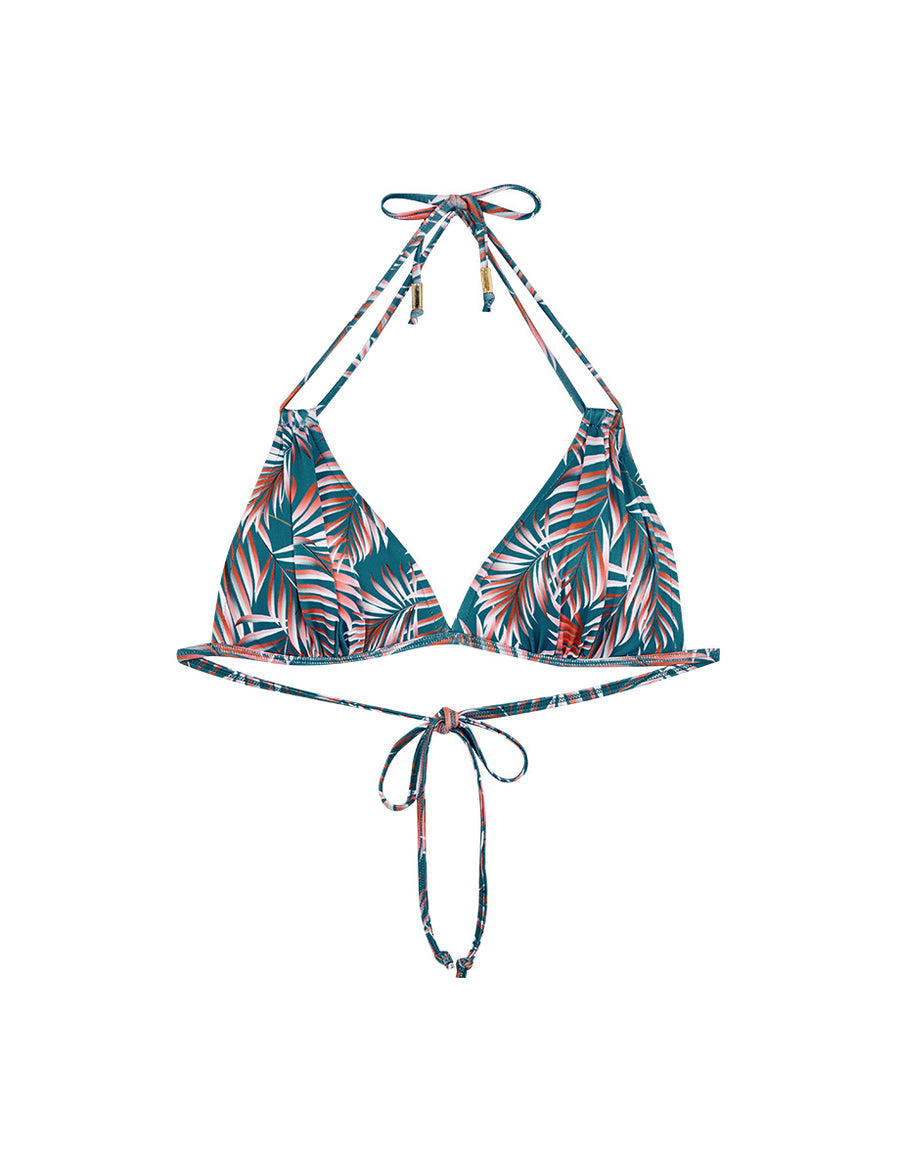 3 Way Printed Double Straps Bikini Swimwear Top + Free Body Jewelry