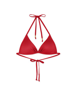 (M,L,XL,2XL) Plain Front Twist Bikini Swimwear Top
