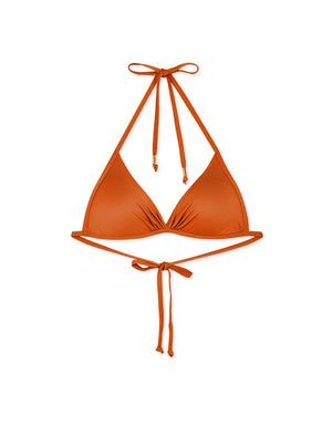 Plain Front Twist Bikini Swimwear Top + Free Body Jewelry
