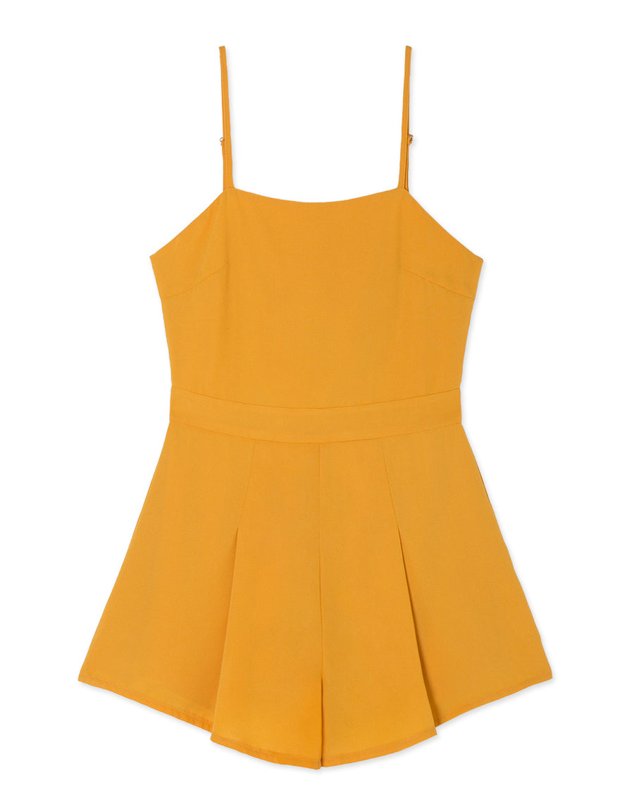 RIBBON BACK CAMI PLAYSUIT