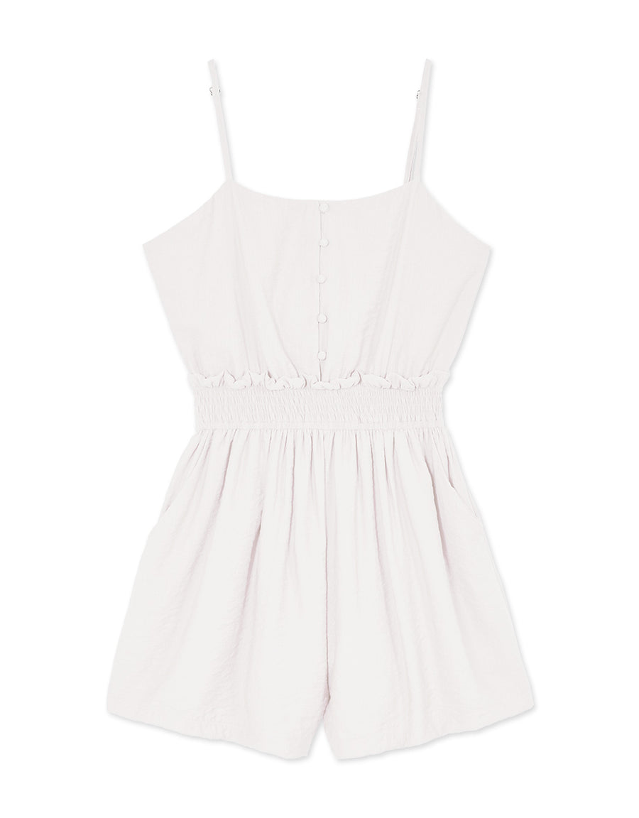 Ribbon Back Buttons Cami Playsuit