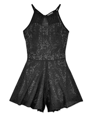 SEXY LACE HALTER PLAYSUIT