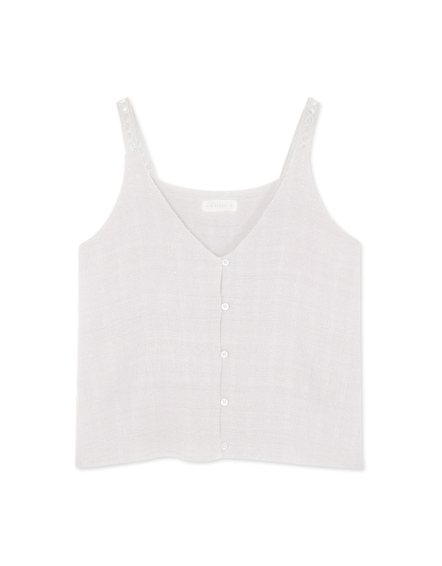 2 WAY Button Hollow Camisole