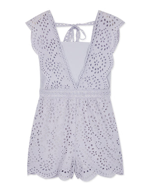 Broderie Knotted Playsuit