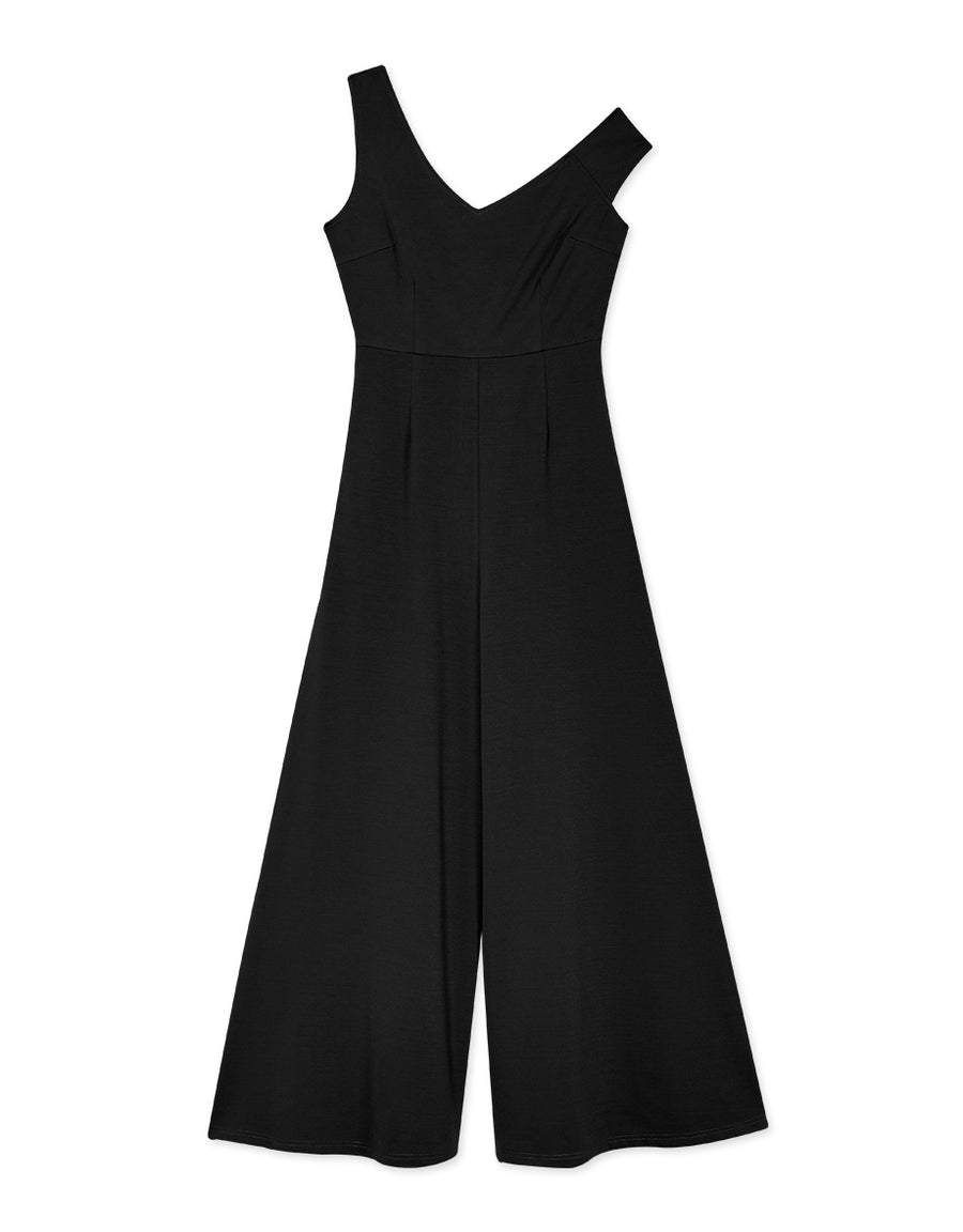 Asymmetrical Stylish V-Neck Jumpsuit