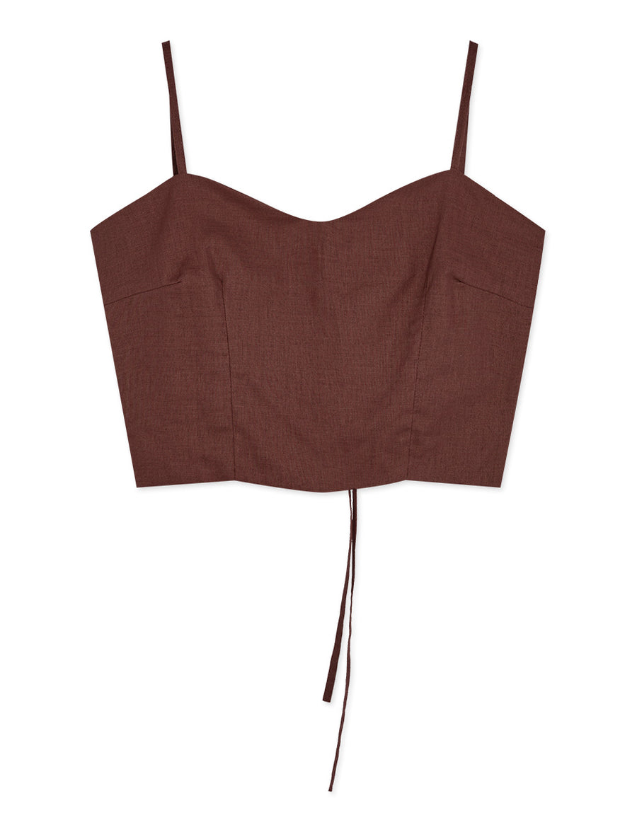 Sexy Cami Cross Back Crop Top