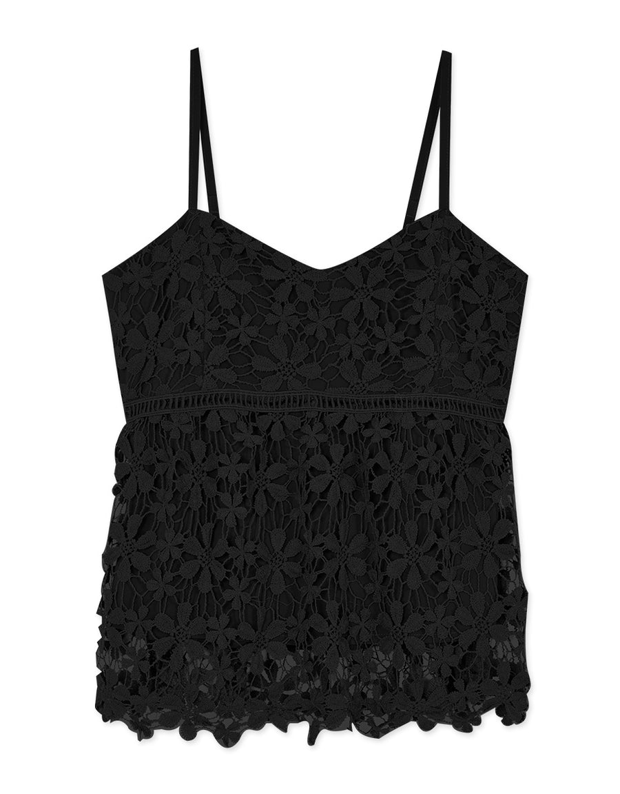 Sweetheart Neckline Lace Cami Top