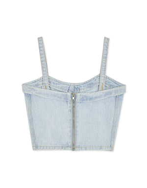 Denim Cropped Camisole