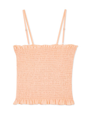 Shirred Thin Strap Camisole