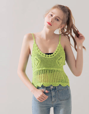 Knitted Thin Strap Cami