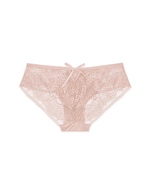 Lace Splice Ice Silk Brief Panty