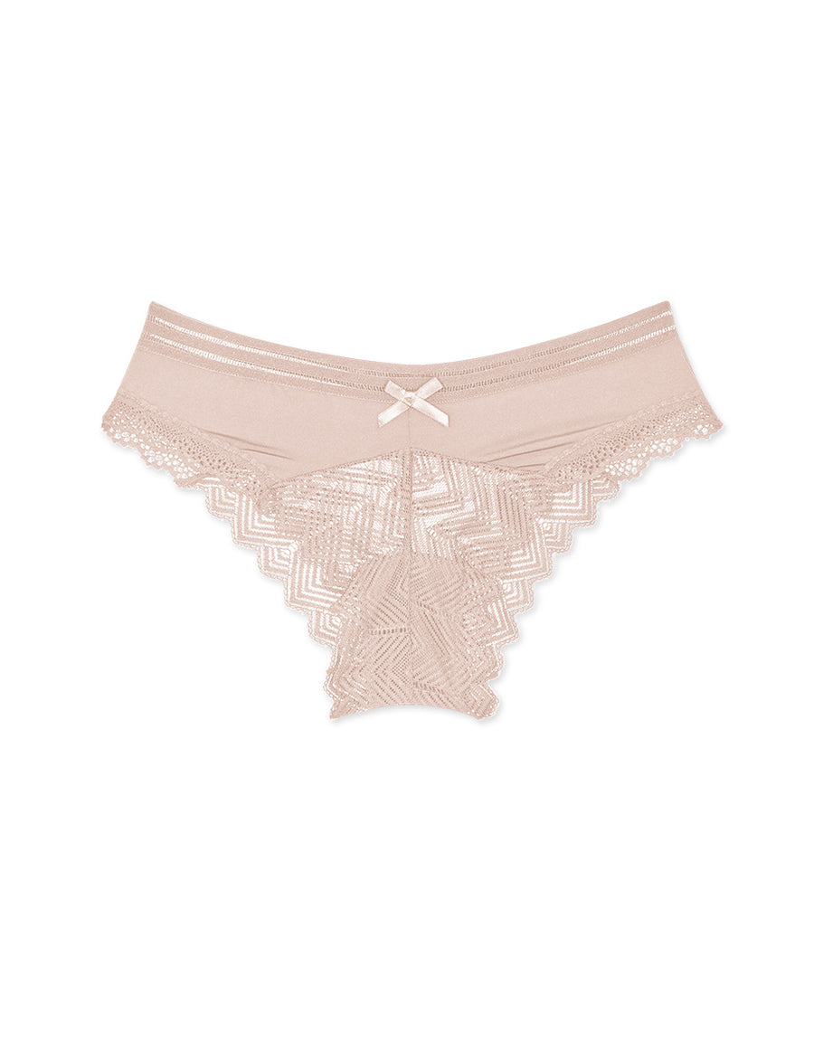Wave Lace Ice Silk Cheeky Panty