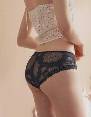 TRANSPARENT BRODERIE BRIEF PANTY