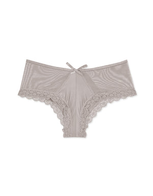 HOLLOW LACE HEM MESH BRIEF PANTY