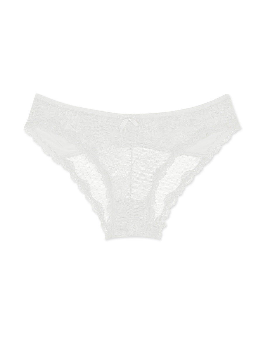 BRODERIE LACE DOTTED BIKINI PANTY