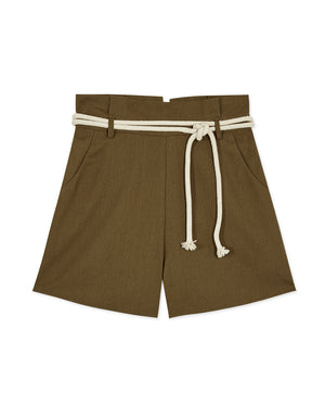Paperbag Shorts with Hemp Rope