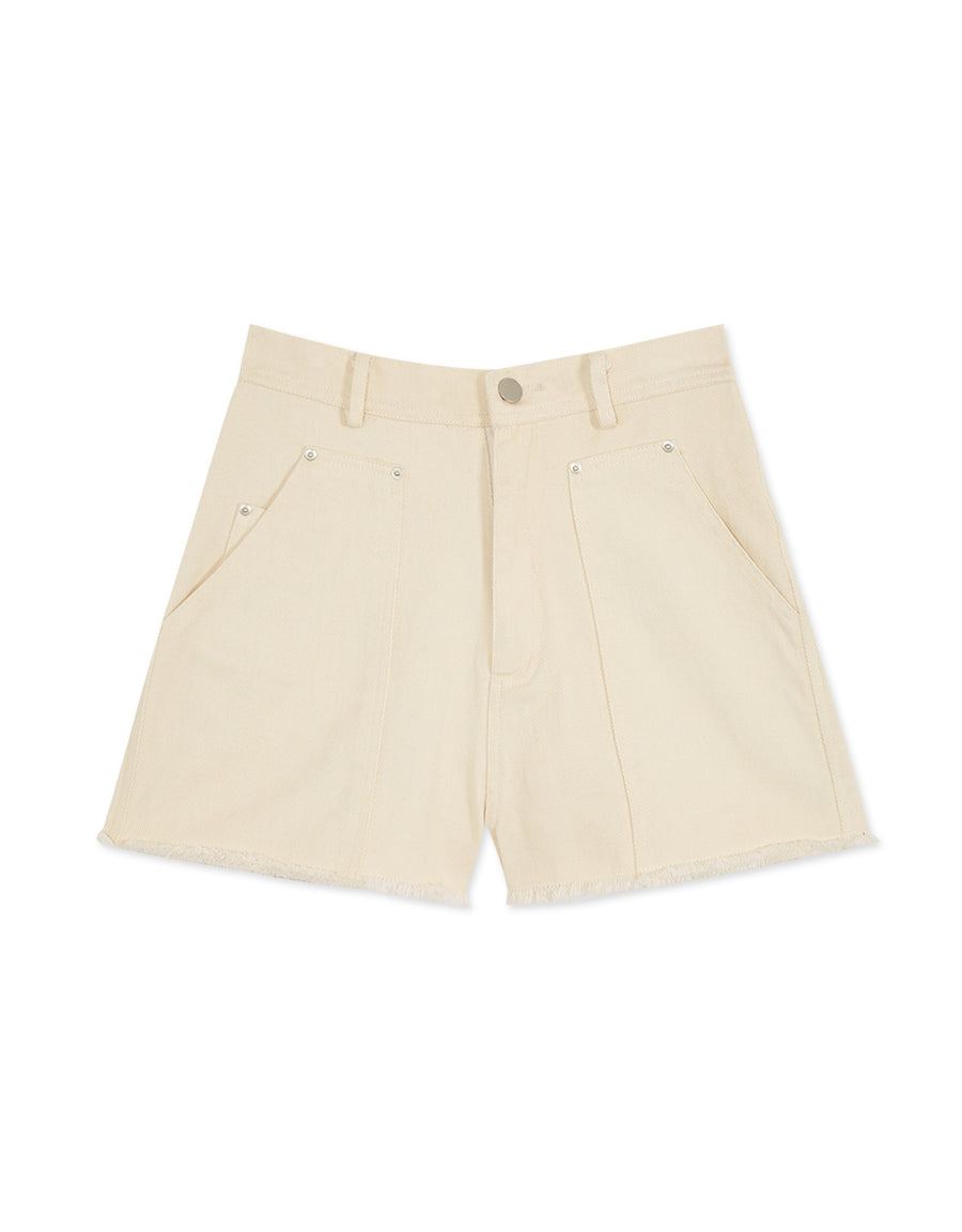 Distressed Shorts with Big Pockets