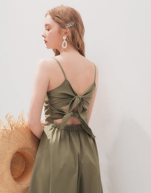 ELEGANT BACK RIBBON DRESS