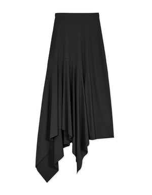 ASSYMETRICAL RIBBED SKIRT
