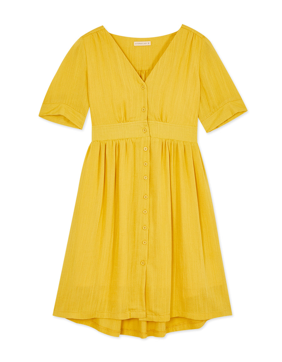 VINTAGE BUTTON LINEN DRESS