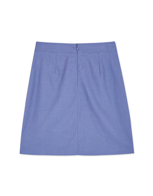 Cotton Plain A-line Skirt
