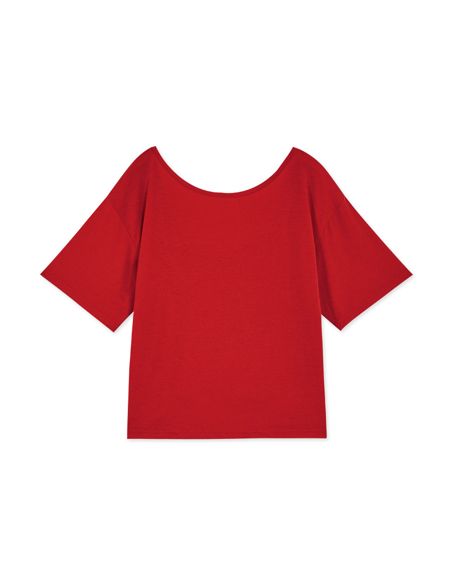 2 Way Drawstring Neckline Top