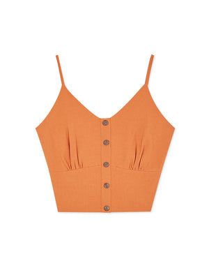 Button Up Thin Strap Camisole