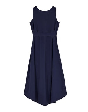 Sleeveless V Neck Tie Dress