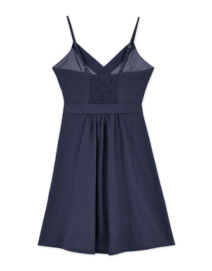 Crossover V Neck Thin Strap Dress