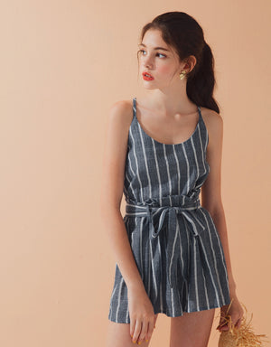 Striped Camisole Strap Set Wear