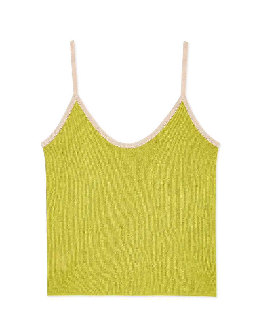 Contrast Knit Camisole