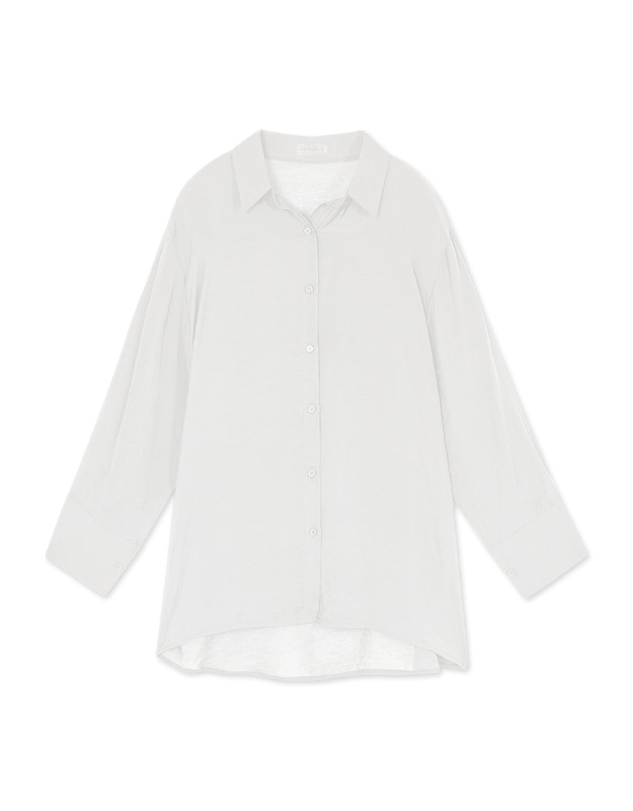 Sheer Chiffon Button Up Shirt