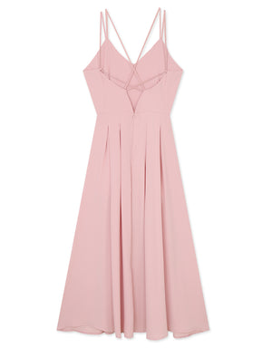 CROSS BACK SLIT MAXI DRESS