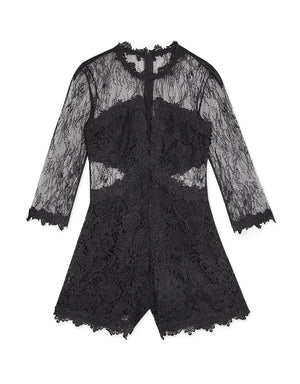 Elegant Transparent Lace Playsuit