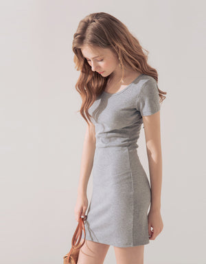 2 Way Crossover Lace Up Bodycon Dress